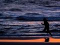 Joggen am Strand