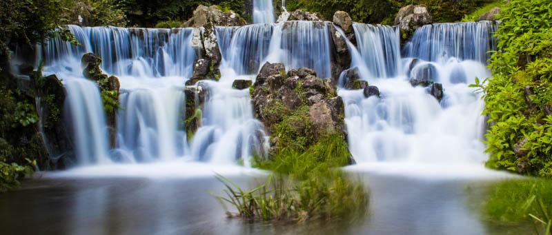 Wasserfälle: Belichtungszeit mit Graufilter 230 Sekunden
