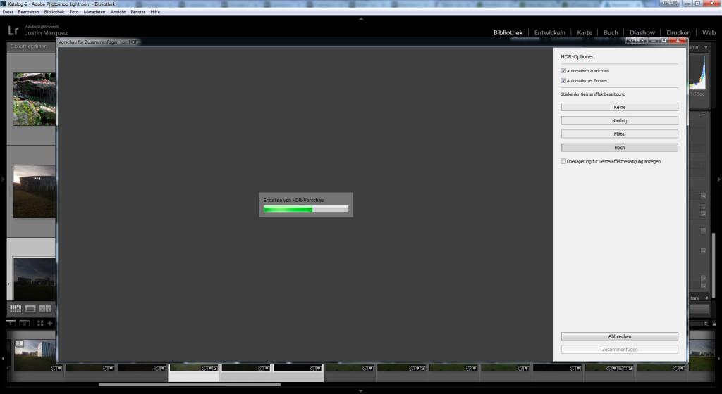 Erstellen der HDR Vorschau