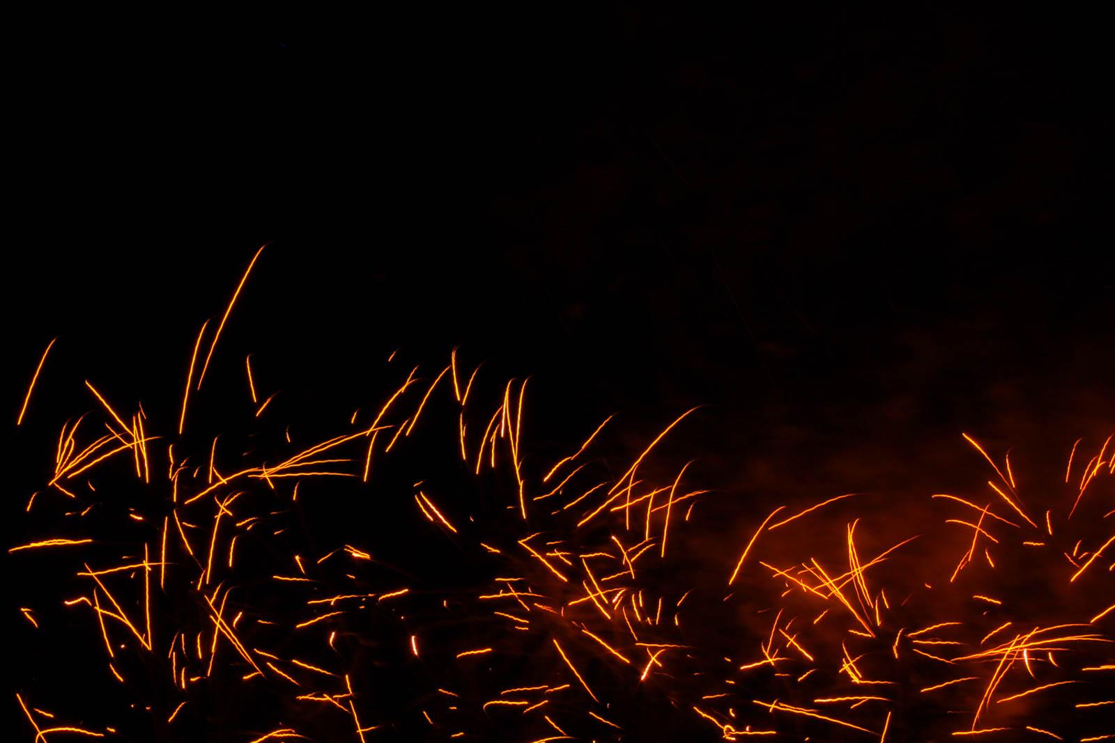 Feuerwerk mit Teleobjektiv