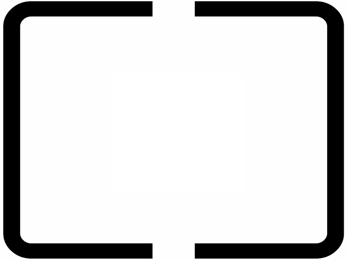 Symbol der mittenbetonten Messung