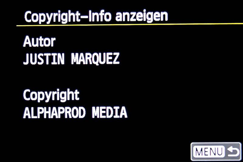 Copyright Informationen anzeigen