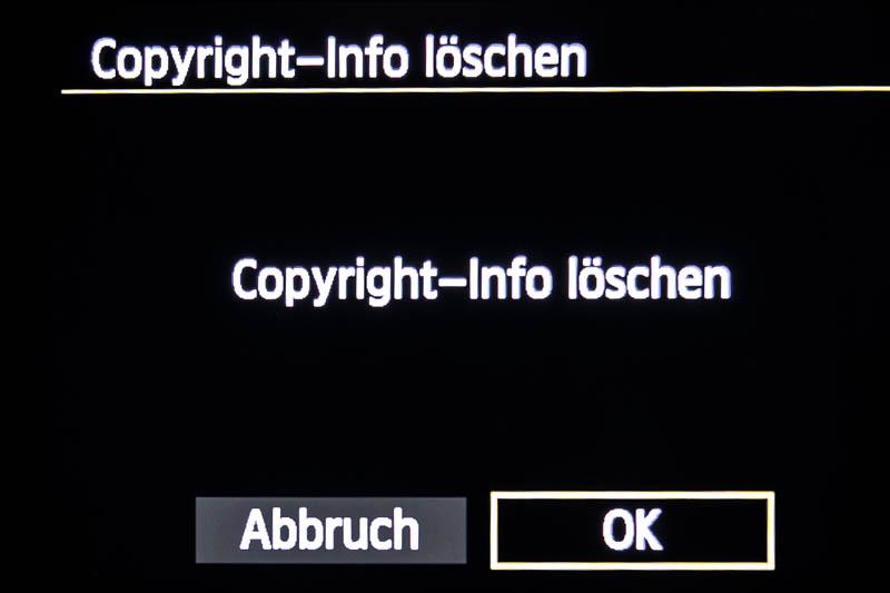 Copyright-Info löschen
