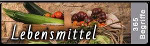 Lightroom Stichwortliste Lebensmittel
