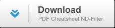 Cheatsheet ND-Filter